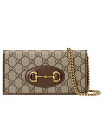 Gucci 1955 Horsebit Wallet With Chain 621892S Coffee