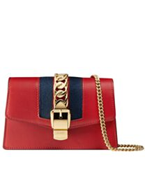 Gucci Sylvie Leather Mini Chain Bag 494646