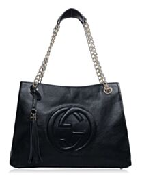 Gucci Soho Leather Tote 308982 Black