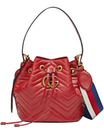 Gucci GG Marmont Quilted Leather Bucket Bag 476674