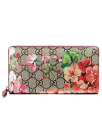 Gucci GG Blooms Supreme Zip Around Wallet 404071