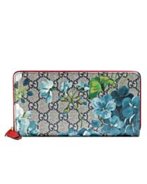 Gucci GG Blooms Zip Around Wallet 408665