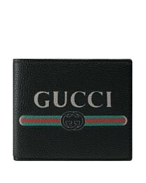 Gucci Print leather bi-fold wallet 496309