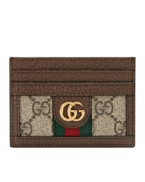 Gucci Ophidia GG card case 523159 Dark Coffee