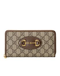 Gucci 1955 Horsebit Zip Around Wallet 621889 Coffee