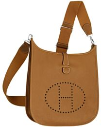 Hermes Tan Evelyne Shoulder Togo III PM Bag