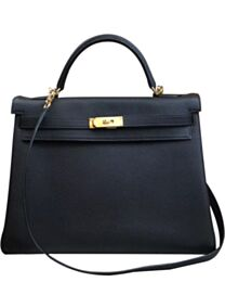 Hermes Kelly Bag 35 Togo Leather Black