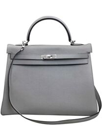 Hermes Kelly Bag 35 Togo Leather Gray