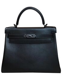 Hermes Kelly Bag 28 Swift Leather Black