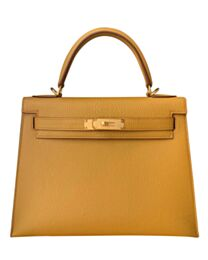Hermes Kelly Bag 28 Togo Leather Apricot