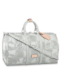 Louis Vuitton Keepall Bandouliere 50 N50069 Gray