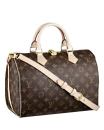 Louis Vuitton monogram speedy M40391 Brown