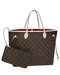 Louis Vuitton Monogram Neverfull M40991 Red