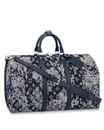 Louis Vuitton Keepall Bandouliere 50 M57285 Dark Blue