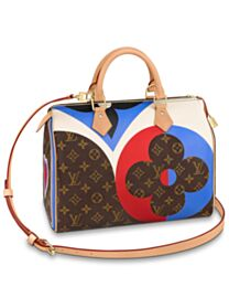 Louis Vuitton Game On Speedy Bandouliere 30 Brown