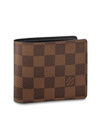 Louis Vuitton Damier Wallet N60895 Brown