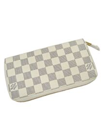 Louis Vuitton Damier Wallet N60019 White