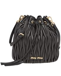 Miumiu Matelasse Leather Bucket Bag 5BE014
