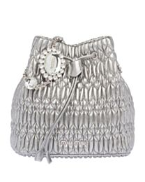 Miu Miu Crystal Nappa Leather Bucket Bag