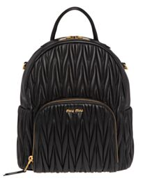 Miumiu Matelasse Leather Backpack 5BZ022