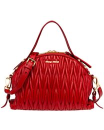 Miumiu Matelasse Leather Bag 5BB034