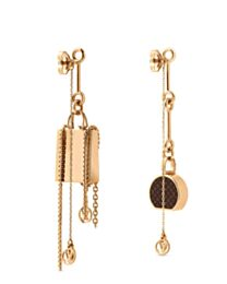 Louis Vuitton Mini LV Mismatched Earrings Golden