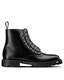 Christian Dior Unisex Explorer Ii Laced Ankle Boot Black