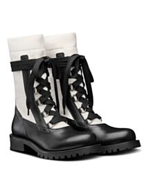 Christian Dior Women's Diorland Lace-Up Boot White