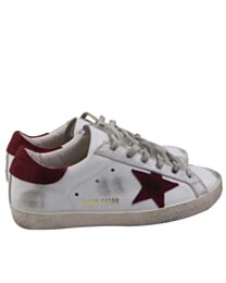 Golden goose deluxe brand superstar sneakers in leather and suede Red