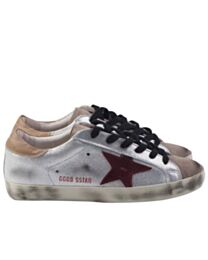 Golden goose deluxe brand superstar sneakers in leather and suede Silver