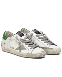 Golden Goose Unisex Superstar sneakers in leather with suede star White