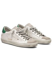 Golden Goose Unisex Superstar sneakers in leather with perforated star White