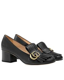 Gucci Leather mid-heel pump 408208