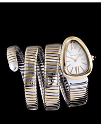 Bvlgari stainless steel automatic watch for women White