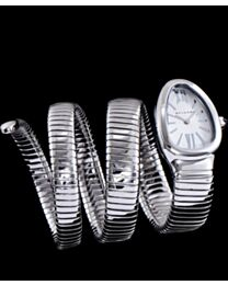 Bvlgari sliver tone stainless steel automatic watch White
