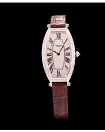 Cartier Diamond Bezel Automatic Watch For Women Coffee