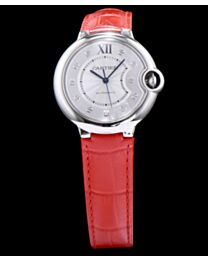 Cartier Ballon Bleu Silver Dial Ladies Watch Orange