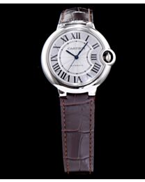 Cartier Ballon Bleu Automatic Silver Dial Stainless Steel Ladies Watch Light Coffee