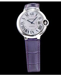 Cartier Ballon Bleu Automatic Silver Dial Stainless Steel Ladies Watch