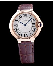 Cartier Ballon Bleu Automatic Silver Dial Golden Stainless Steel Ladies Watch Light Coffee