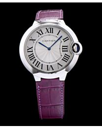 Cartier Ballon Bleu Automatic Silver Dial Sliver Stainless Steel Ladies Watch