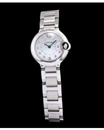 Cartier Ballon Bleu Silver Diamond Dial Ladies Watch White