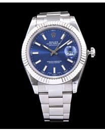 Rolex Datejust Watches with luminous hour markers Blue
