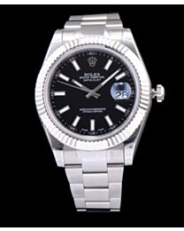 Rolex Datejust Watches with luminous hour markers Black