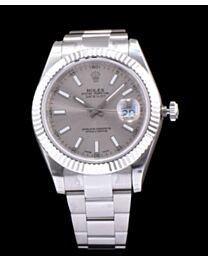 Rolex Datejust Watches with luminous hour markers Silver