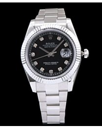 Rolex Men s Stainless Steel Mid size Datejust Watches Silver