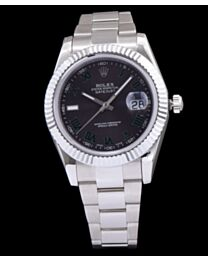 Rolex Stainless Steel Datejust Automatic Watches Green