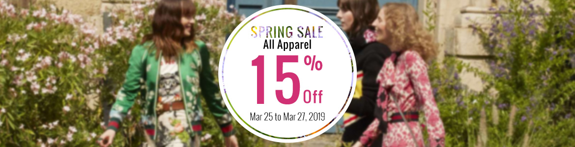 2019 spring summer apparel sale