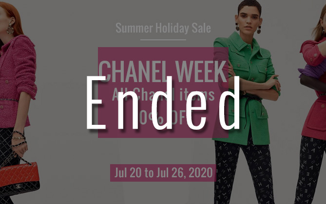 Summer sale Chanel week
