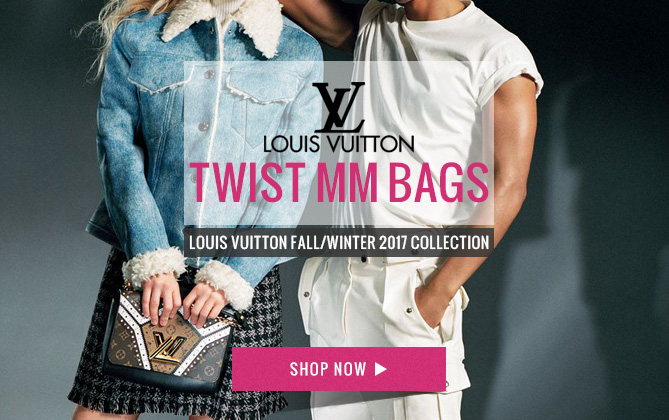 Louis Vuitton Twist MM M44214 Coffee